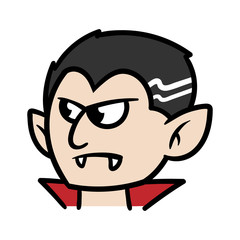 Cartoon Dracula or Vampire Vector Illustration