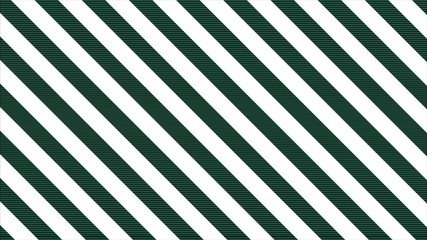 Abstract CGI motion graphics and animated background with green and white stripes. Black and white abstract background. Seamless loop
