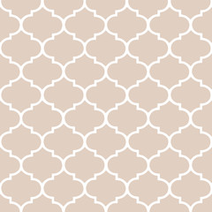 Beige morrocan, hamptons background. Vector pattern.