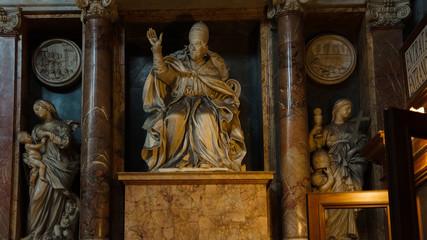 Inside the Basilica of Santa Maria Maggiore in Rome.Italy.