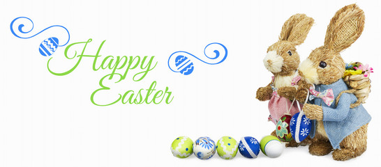 Happy Easter with white background