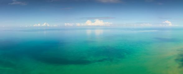 Aerial panorama landscape of tropical sea