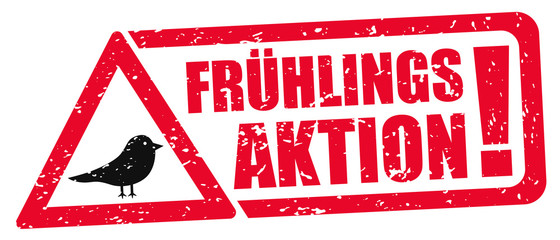 Frühlings Aktion / Stempel / Frühling Fototapete