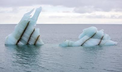 Melting icebergs in Arctic ocean