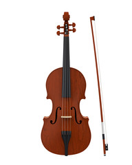 Aged Violin Isolated