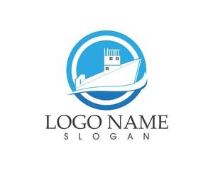 Boat logo design template