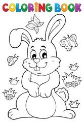 Coloring book rabbit theme 7