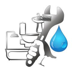 Plumbing repair with tools