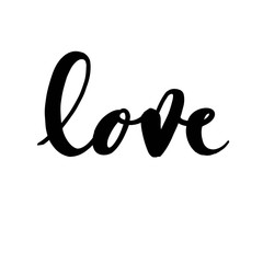 Love - unique handdrawn typography poster. Vector art for congratulation cards, invitations and flyers.