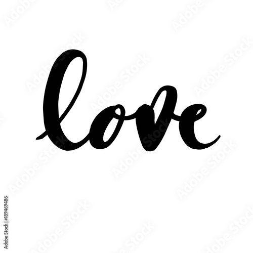 love unique handdrawn typography poster vector art for