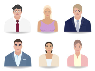 People Portraits, work vector illustration