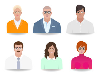 Different icons of people vector illustration