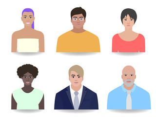 Portraits office people, vector illustration