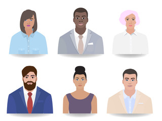 Different job, portraits of people, vector