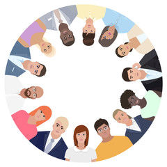 People in circle, vector illustration