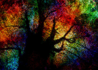 Vivid Abstract Tree