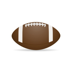 Vector image of a ball for American football.