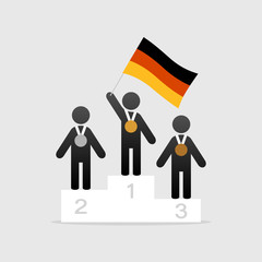 Champion with germany flag