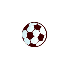 vector flat sketch football, soccer ball, sport equipment object. graphic design or web design element. Isolated illustration on a white background