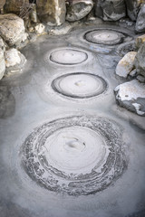 Oniishibozu Hot Springs, one of the Hells of Beppu, Japan.