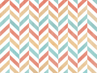 Watercolor stripes background, chevron.