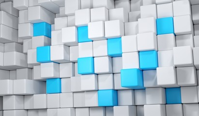 3D Rendering Of Abstract Cube Background