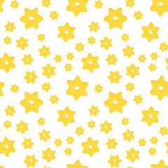 Seamless pattern with differentstars macaroni on white background. Italian macaroni, traditional cuisine.