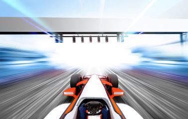 Printed roller blinds F1 3D illustration of formula one