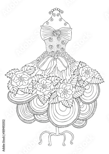 Hand Drawn Illustration For Coloring Page Poster Or Invitation Card Design
