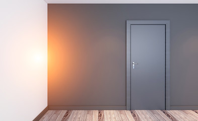 Modern Empty  office Cabinet. Meeting room. 3D rendering.. Sunset
