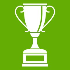 Winning gold cup icon green