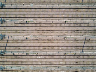 Graphic rails from above