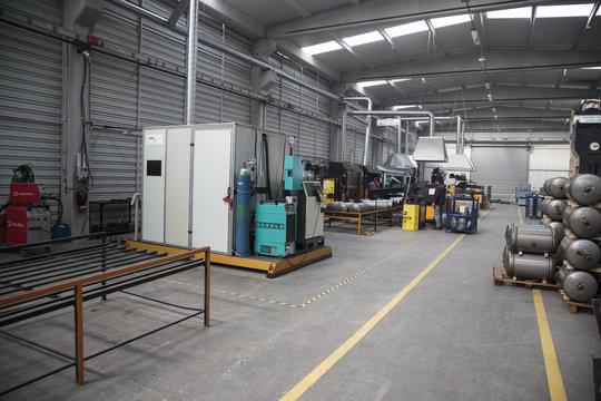 warehouse, tank, laser, laser cutting, welding, welding machine