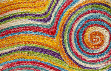 Colorful weave pattern or background
