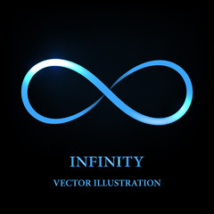 Abstract glowing infinity symbol