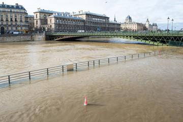 inondation crue seine inonder eau montée paris déborder environnement catastrophe naturelle
