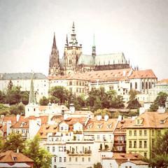 Beautiful castle in Prague, Czech republic, illustration