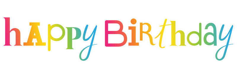 """HAPPY BIRTHDAY"" Hand Lettering Banner"