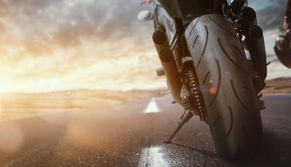 Motorrad auf einer Straße