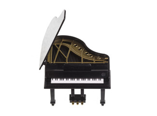 grand piano on a white background