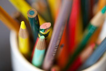 pens, pencils, paints