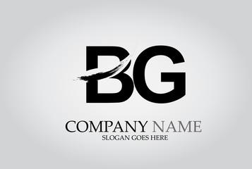 BG Splash Brush Letters Design Logo