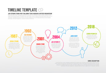 Overlapping Circles Timeline Infographic 2