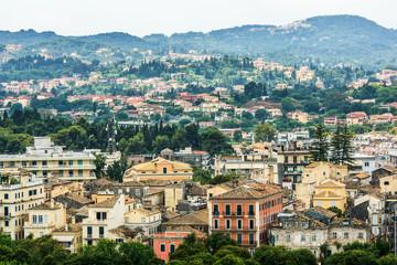 Old historical district Corfu island. Greece.