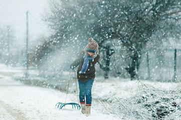 walk in the fresh air in winter