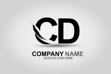 CD Splash Brush Letters Design Logo