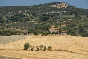 Rural landscape in val Teverina (Umbria, Italy)