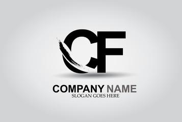 CF Splash Brush Letters Design Logo