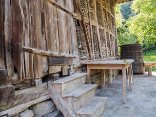 Old wooden barn at Baba Stana Neighborhood, Oreshak, Bulgaria