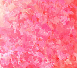 Abstract pink painting background. Artistic brushstroke texture background. Hand painted gouache background.